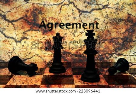 Agreement grunge concept - stock photo