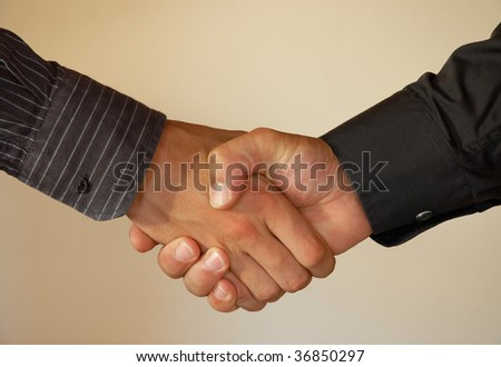 Agreement, handshake.