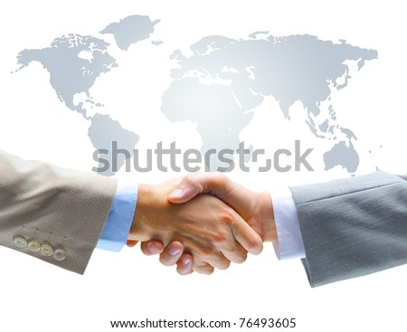Agreement handshake - stock photo