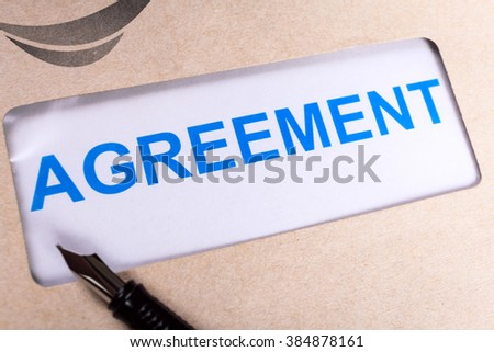 Agreement in brown envelope, can use business contract concept