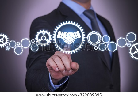 Agreement Solution Concept on Screen - stock photo