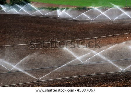 agricultural irrigation levels - stock photo