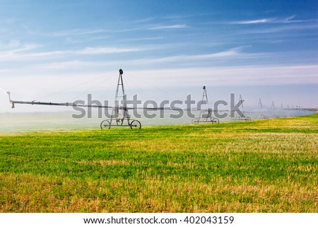 Agricultural irrigation system  - stock photo