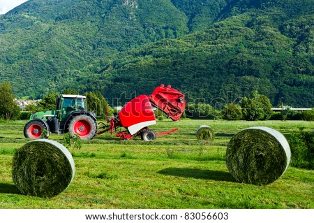 agricultural machine - stock photo