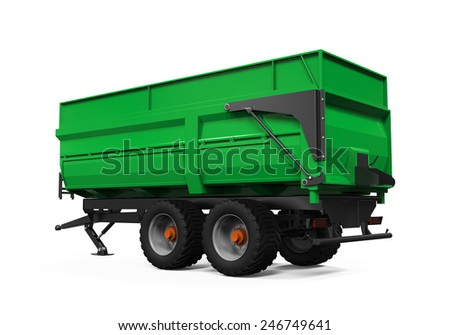 Agricultural Trailer Isolated - stock photo