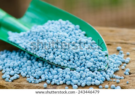 Agriculture, Chemical fertilizer for planting and plantation - stock photo