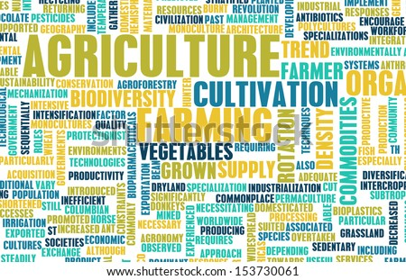 Agriculture Industry in the Farming Sector Art - stock photo