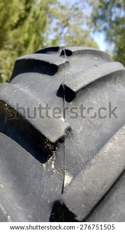 Agriculture Off-road Truck Tire Profile - stock photo