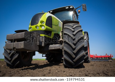 Agriculture tractor - stock photo