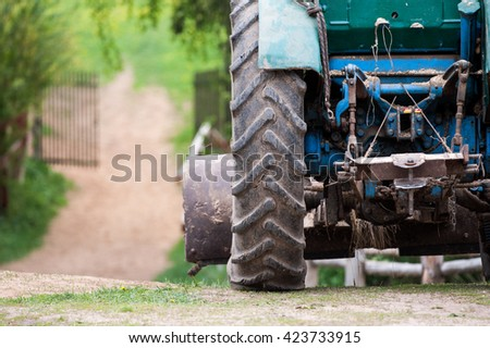 agrimotor closeup at the farm - stock photo