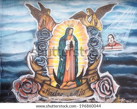 Aguascalientes Mexico September 26 Prayer Mural Stock Photo Royalty