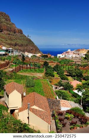 Agulo Village in La Gomera, Spain, Europe - stock photo