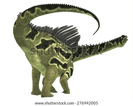Agustinia Dinosaur Tail - Agustinia was a herbivorous titanosaur dinosaur that lived in the Cretaceous Period of South America. - stock photo