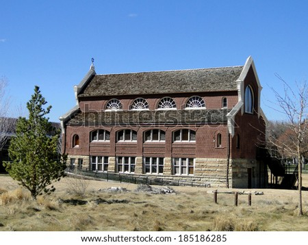 Ahavath Beth Israel was constructed during 1896 in Boise, Idaho and is believed to be the oldest Jewish Synagogue west of the Mississippi River.                       - stock photo