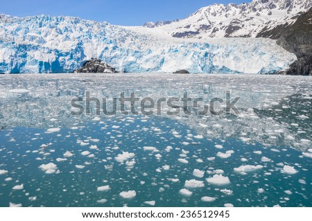 Aialik glacier, Kenai Fjords National Park (Alaska) - stock photo