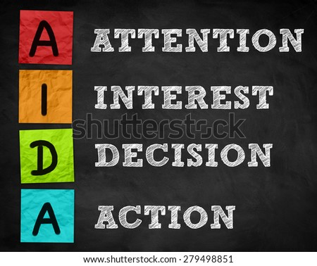 AIDA - Business strategy concept - stock photo