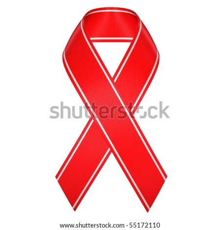 aids red ribbon symbol isolated