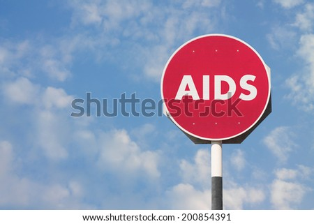 AIDS Sign - stock photo