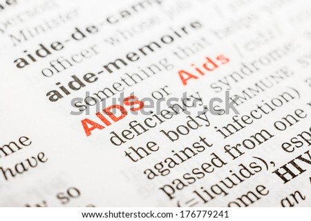 Aids Word Definition In Dictionary - stock photo