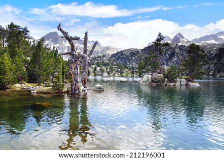 Aiguestortes and Estany de Sant Maurici National Park, Spain - stock photo