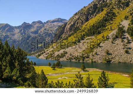 Aiguestortes is a National Park in Catalonia Spain - stock photo