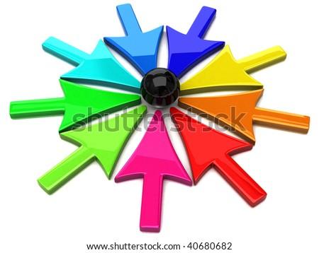 Aiming arrows - stock photo