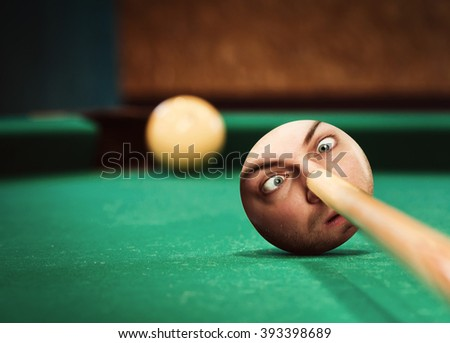 Aiming to ball - stock photo