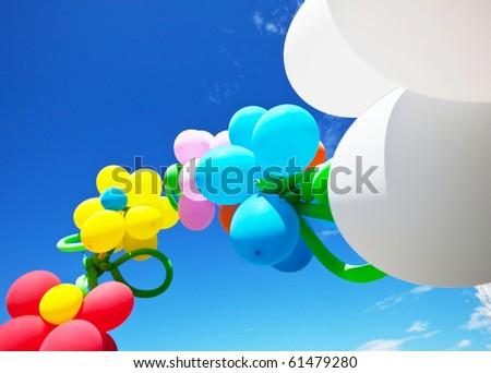 Air ballon on festival - stock photo