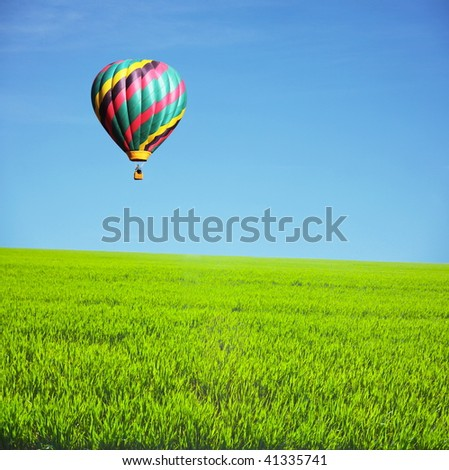 air balloon - stock photo