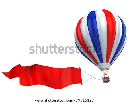 air balloon advertisement - stock photo