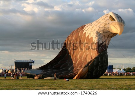 Air balloon - American eagle - stock photo