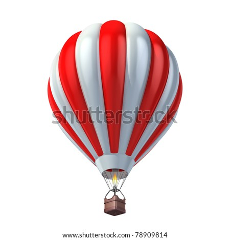 air balloon 3d illustration - stock photo