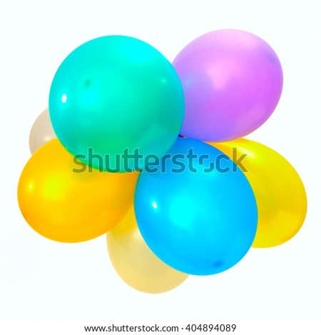 air balloons isolated on white background - stock photo