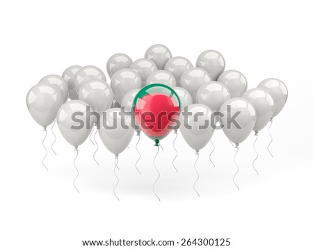Air balloons with flag of bangladesh isolated on white - stock photo