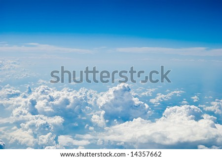 air blue sky view background