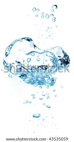Air bubbles in water - stock photo