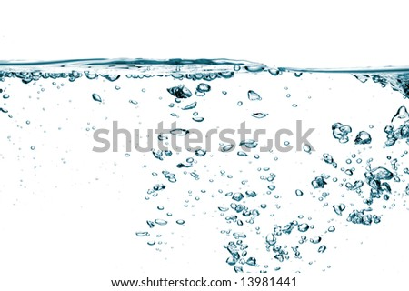 Air bubbles isolated over white - stock photo