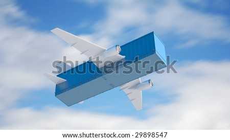 Air cargo - stock photo