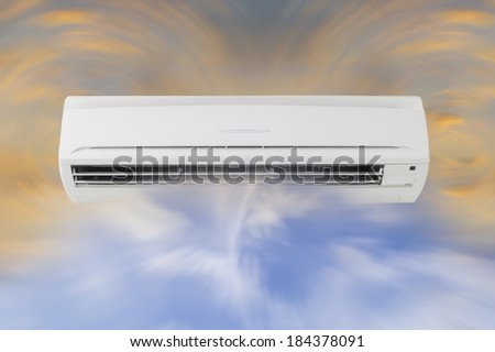 Air circulation of air conditioner machine. - stock photo