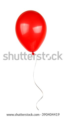 air color ball isolated on white background - stock photo