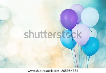 Air. Colorful balloons - stock photo