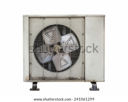 Air compressor  isolate with selection path - stock photo