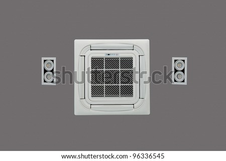 Air condition and light on the top of ceiling