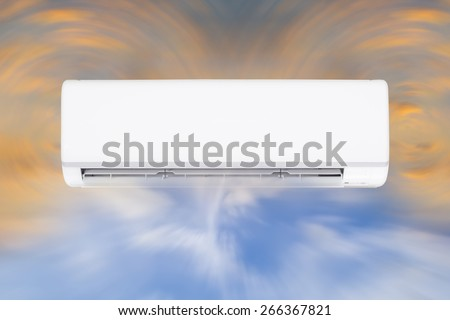 Air conditioner and air circulate. - stock photo