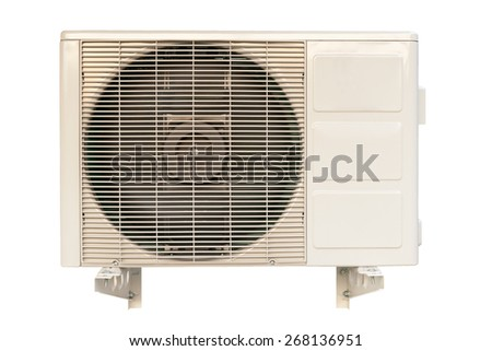 Air conditioner fan isolated on white background.