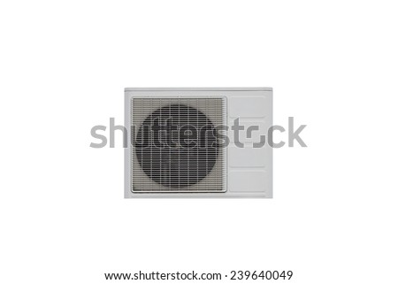 Air conditioner isolated on a white background - stock photo