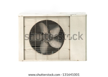 Air conditioner isolated on white background - stock photo
