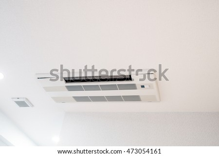 Air conditioner on ceiling