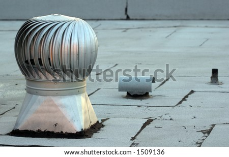 Air conditioner on roof. - stock photo