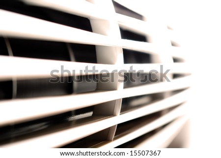 Air conditioner or a fan - stock photo